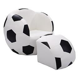 Costway Indoor/Outdoor Football Shape Kids Sofa Chair Couch