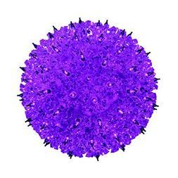 Indoor/Outdoor Hanging 50 Mini StarLight Sphere, Purple by G