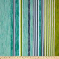 P Kaufmann Indoor/Outdoor The Right Stripe Jade Fabric By Th