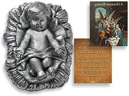 """Infant Jesus Christ Zinc Alloy Statue with """"A Christmas Bles"""