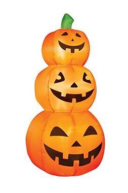 Airflowz Inflatable 3-Pumpkin Stack, 4 Feet