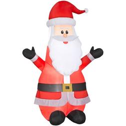 Gemmy Inflatable 6.99 Ft Airblown Santa Outdoor Christmas De