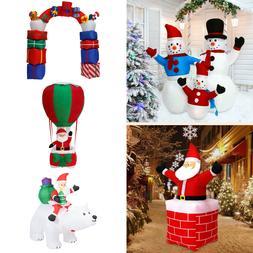 Inflatable Christmas Santa Claus Snowman Airblown Yard Outdo