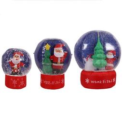 Inflatable Christmas Snowball Toys LED Lighted Santa Claus T