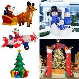 Inflatable Christmas Tree Santa Claus Snowman Lighted Air Bl