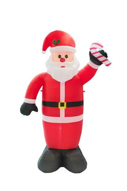 8Ft Inflatable Christmas Yard Decoration Santa Claus Airblow