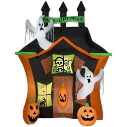 Inflatable Ghosts Pumpkins Haunted House Halloween Yard Deco