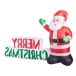 Inflatable Merry Christmas Sign w Santa Clause 8.5 Ft. Outdo