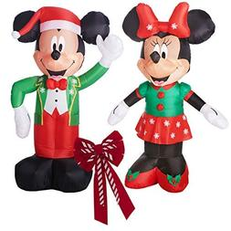 Inflatable Mickey and Minnie Christmas Yard Decorations Bund