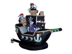 BZB Goods 7 Foot Halloween Inflatable Skeletons Ghosts on Pi