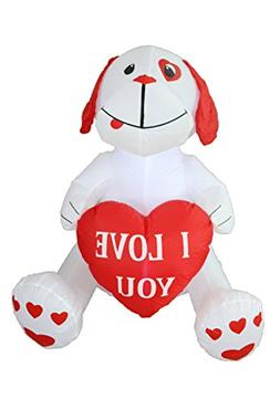 4 Foot Inflatable Puppy Dog, Great for Anniversary, Wedding