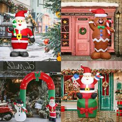 Inflatable Santa Claus Christmas Snowman Arch Airblown Yard
