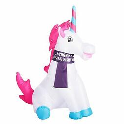 Holiday Time Inflatable Unicorn, 3.5 Foot Tall