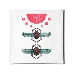 IGOG Insect Scarab Square Personality Customization Throw Pi