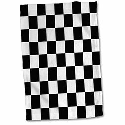 3dRose 3D Rose Black and White Pattern-Checkered Checked Squ