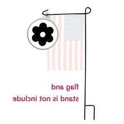 Yard Iron Flag Pole Stand Flags Stake Banner Bracket Tool  O