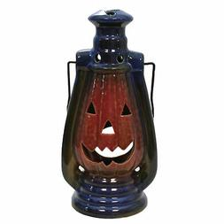 Halloween Jack-O-Lantern Candle Holder Stoneware Indoor Outd