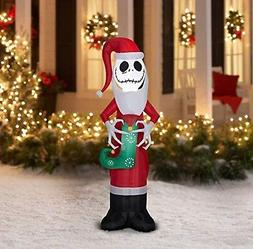 Disney Jack Skellington Santa Inflatable Yard Decoration