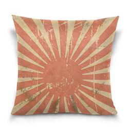 SUABO Japanese Flag Pattern Cotton Velvet Throw Pillow Case