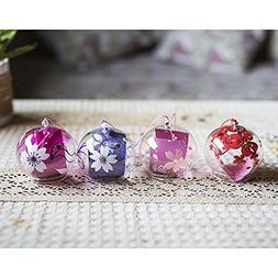 4-piece Pack Japanese Wind Chimes Wind Bells Handmade Glass