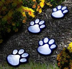 IdeaWorks JB7356 Solar Paw Print Lights , Black