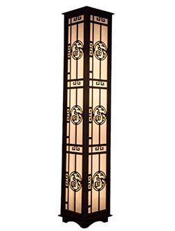 JCRNJSB Modern Fu Word Carved Floor Lamp Living Room Lights