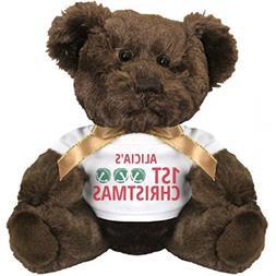 Jingle Bells Alicia's 1st Christmas: Small Plush Teddy Bear