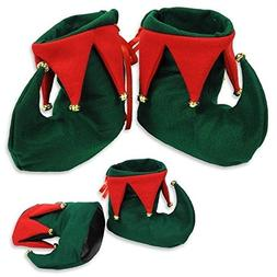Jingle Bells ELF BOOTS Costume Slippers CHRISTMAS PARTY Holi