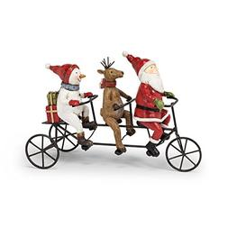Abbott Collection Jolly Hand-painted Winter Tricycle Trio Fi