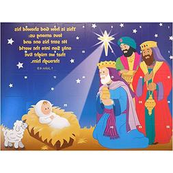 Jumbo Advent Calendar Jesus and Wise Men with Scripture 16 x