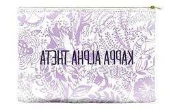 Kappa Alpha Theta Floral Pattern Purple Cosmetic Accessory P