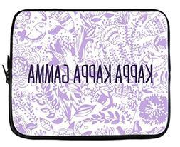Kappa Kappa Gamma Floral Pattern Purple Neoprene Sleeve Case