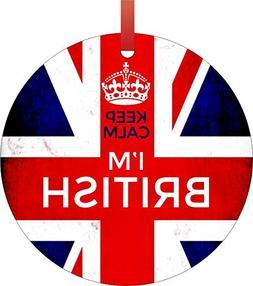 Jacks Outlet Keep Calm I'm British - Flag Great Britian Engl