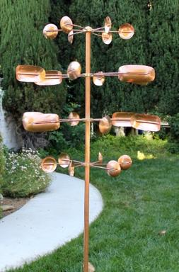 Stanwood Wind Sculpture Kinetic Copper Wind Sculpture, Quaki