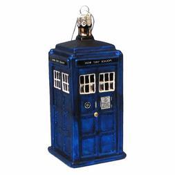 Kurt Adler 4.25-Inch Doctor Who TARDIS Glass Figural Ornamen