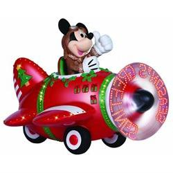 Precious Moments 02098 - Mickey Mouse In Plane with Message