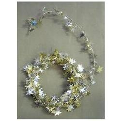 Party Deco 04512 12 ft. Silver and Gold Star Wire Garland