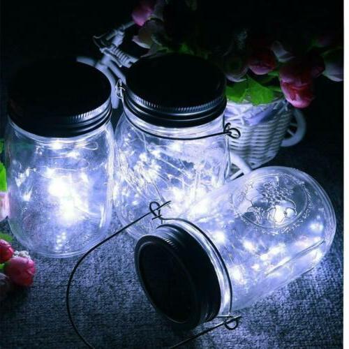 20 LED Jar Lid String Yard Hanging Decor