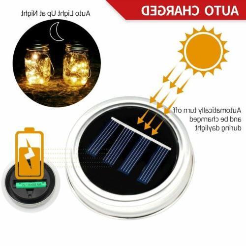20 LED Solar Mason Jar String Light Hanging Decor