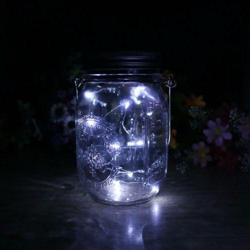 20 Jar Lid Lights String Hanging