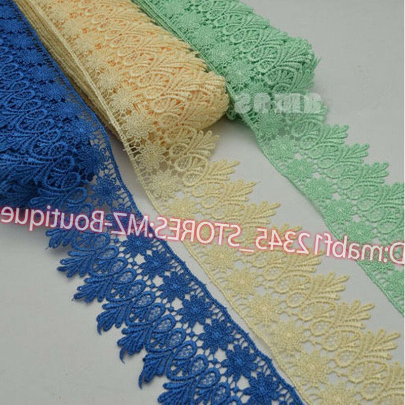 1 Yard, Lace Trim Ribbon Wedding Applique Dress Sewing Decor Crafts FP57