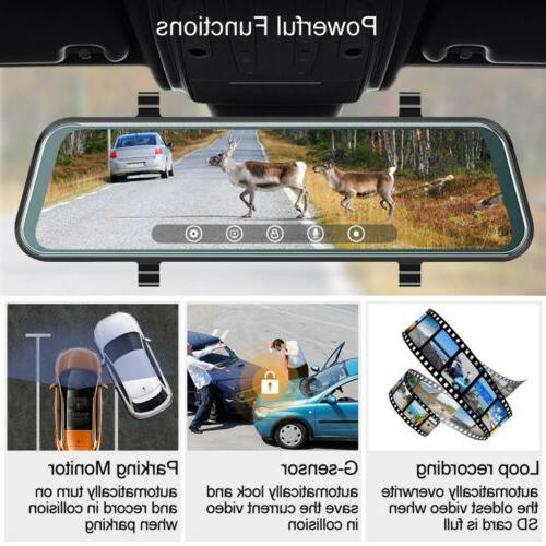 "10"" HD Lens Car Cam Video Rearview US"