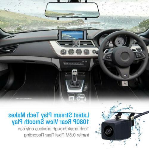 "10"" 1080P Dual Lens Cam Video Camera Rearview"