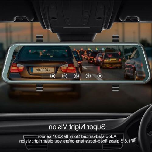 """10"""" Dual Lens Car Cam Camera Rearview US"""