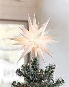 "Elf Logic 12"" Moravian Star Christmas Tree Topper, Beautiful"