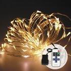 100 White LED Lights String Plug-in 12V Waterproof for Indoo