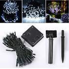 12M 100 LED White Solar Fairy String Lights Outdoor Garden X