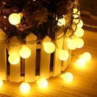 10M 100LED Warm White Xmas Lamp Globe Ball Fairy String Ligh