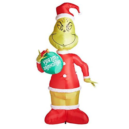 11 ft grinch with ornament airblown lighted