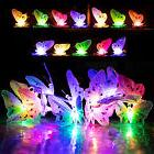 12x New LED Solar Butterfly Colorful String Fairy Lights for